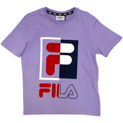 Υφασμάτινα Παιδί T-shirt με κοντά μανίκια Fila 688149 Βιολέτα