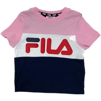 Υφασμάτινα Παιδί T-shirt με κοντά μανίκια Fila 688023 Ροζ