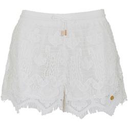 Υφασμάτινα Γυναίκα Σόρτς / Βερμούδες Superdry G71102OT λευκό