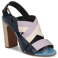 Παπούτσια Γυναίκα Σανδάλια / Πέδιλα Rochas NASTR Black / Violet / ECRU