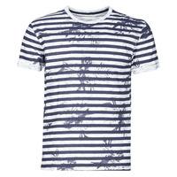 Υφασμάτινα Άνδρας T-shirt με κοντά μανίκια Yurban OLORD Marine / Άσπρο