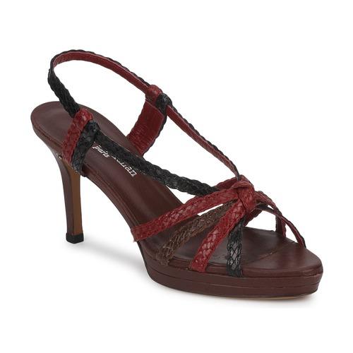 Παπούτσια Γυναίκα Σανδάλια / Πέδιλα Stéphane Kelian PRISCILLE Brown / Red