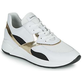 Παπούτσια Γυναίκα Χαμηλά Sneakers NeroGiardini FILOMENE Άσπρο / Black / Gold