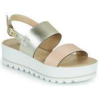 Παπούτσια Γυναίκα Σανδάλια / Πέδιλα NeroGiardini SABRI Άσπρο / Gold