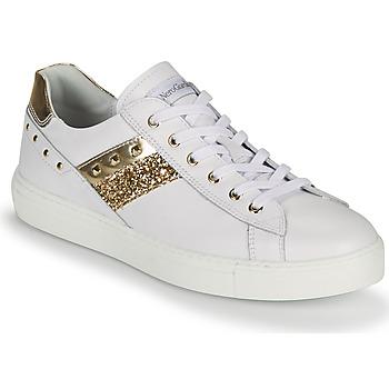 Παπούτσια Γυναίκα Χαμηλά Sneakers NeroGiardini DRILLA Άσπρο / Gold