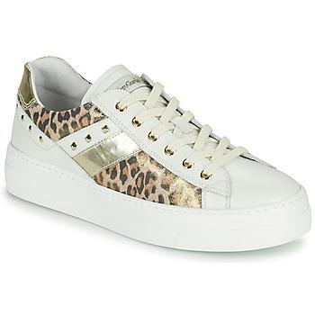 Παπούτσια Γυναίκα Χαμηλά Sneakers NeroGiardini MANO Άσπρο / Leopard