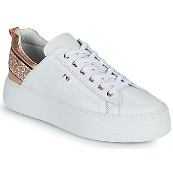 Παπούτσια Γυναίκα Χαμηλά Sneakers NeroGiardini GATTO Άσπρο / Ροζ / Χρυσο