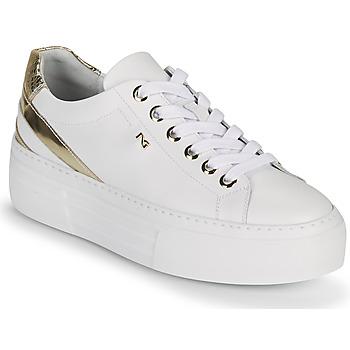 Παπούτσια Γυναίκα Χαμηλά Sneakers NeroGiardini LAITO Άσπρο / Gold