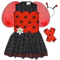 Υφασμάτινα Κορίτσι Μεταμφιέσεις Fun Costumes COSTUME ENFANT BIRDIE BEETLE Multicolour