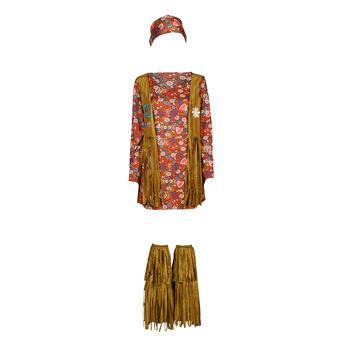 Υφασμάτινα Γυναίκα Μεταμφιέσεις Fun Costumes COSTUME ADULTE HIPPIE HOTTIE Multicolour