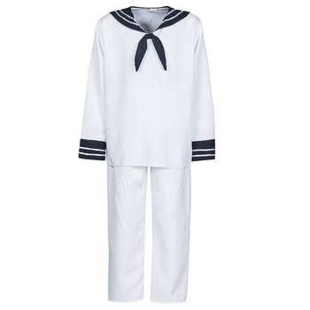 Υφασμάτινα Άνδρας Μεταμφιέσεις Fun Costumes COSTUME ADULTE MARIN BLANC Άσπρο