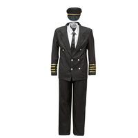 Υφασμάτινα Άνδρας Μεταμφιέσεις Fun Costumes COSTUME ADULTE PILOTE Multicolour