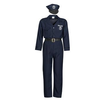 Υφασμάτινα Άνδρας Μεταμφιέσεις Fun Costumes COSTUME ADULTE OFFICIER DE POLICE Multicolour