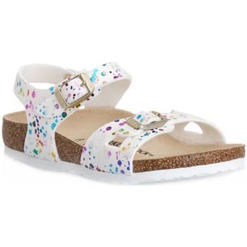 Παπούτσια Παιδί Σανδάλια / Πέδιλα Birkenstock RIO CONFETTI WHITE CAL S Bianco