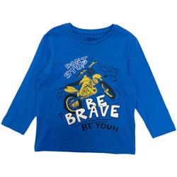 Υφασμάτινα Αγόρι Μπλουζάκια με μακριά μανίκια Losan 025-1201AL Μπλε