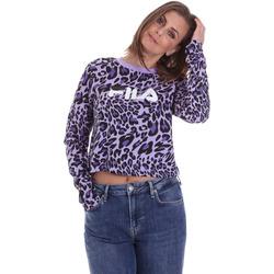 Υφασμάτινα Γυναίκα Μπλουζάκια με μακριά μανίκια Fila 687972 Βιολέτα