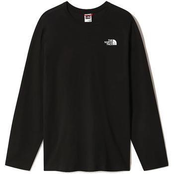 Υφασμάτινα Άνδρας Μπλουζάκια με μακριά μανίκια The North Face NF0A493L Μαύρος