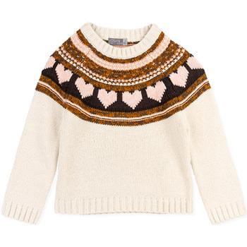 Υφασμάτινα Κορίτσι Πουλόβερ Losan 026-5001AL λευκό