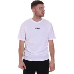 Υφασμάτινα Άνδρας T-shirt με κοντά μανίκια Fila 687990 λευκό
