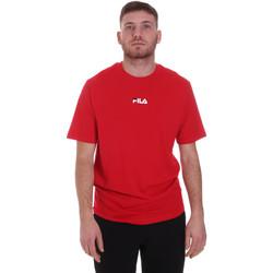 Υφασμάτινα Άνδρας T-shirt με κοντά μανίκια Fila 687990 το κόκκινο