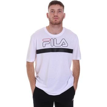 Υφασμάτινα Άνδρας T-shirt με κοντά μανίκια Fila 683184 λευκό