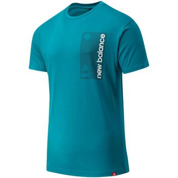 Υφασμάτινα Άνδρας T-shirt με κοντά μανίκια New Balance NBMT03553TMT Μπλε