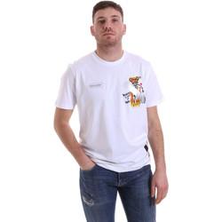 Υφασμάτινα Άνδρας T-shirt με κοντά μανίκια Disclaimer 21EDS50512 λευκό