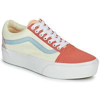 Παπούτσια Γυναίκα Χαμηλά Sneakers Vans OLD SKOOL PLATFORM Άσπρο / Ροζ