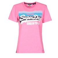 Υφασμάτινα Γυναίκα T-shirt με κοντά μανίκια Superdry VL CALI TEE 181 Ροζ