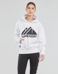 Υφασμάτινα Γυναίκα Φούτερ Superdry MOUNTAIN SPORT MONO HOOD Άσπρο