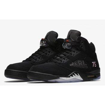 Παπούτσια Ψηλά Sneakers Nike Air Jordan 5 x PSG Black Black/White-Challenge Red