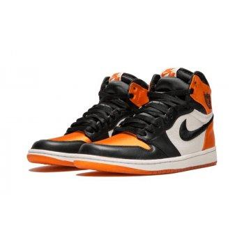Παπούτσια Χαμηλά Sneakers Nike Air Jordan 1 High Satin Shattered Backboard Black/Starfish-Sail-Black