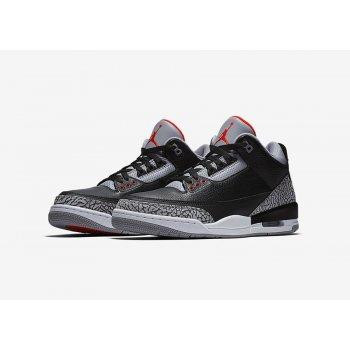 Παπούτσια Χαμηλά Sneakers Nike Air Jordan 3 Black Cement Black/Cement Grey-White-Fire Red