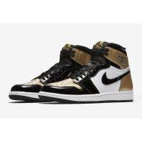 Παπούτσια Ψηλά Sneakers Nike Air Jordan 1 High Gold Toe Black/Black-Metallic Gold-White