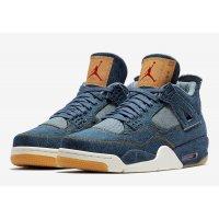 Παπούτσια Ψηλά Sneakers Nike Air Jordan 4 Levi's Denim Denim/Denim-Sail-Game Red