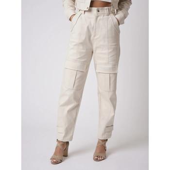 Υφασμάτινα Γυναίκα παντελόνι παραλλαγής Project X Paris  Άσπρο