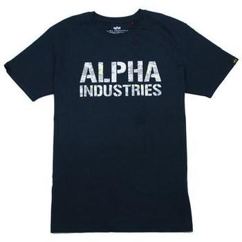 T-shirt με κοντά μανίκια Alpha T-shirt Camo Print