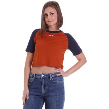 Υφασμάτινα Γυναίκα T-shirt με κοντά μανίκια Fila 687919 Πορτοκάλι