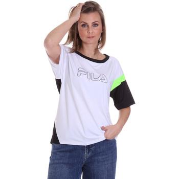 Υφασμάτινα Γυναίκα T-shirt με κοντά μανίκια Fila 683145 λευκό