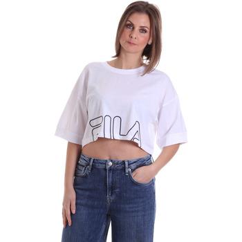 Υφασμάτινα Γυναίκα T-shirt με κοντά μανίκια Fila 683170 λευκό