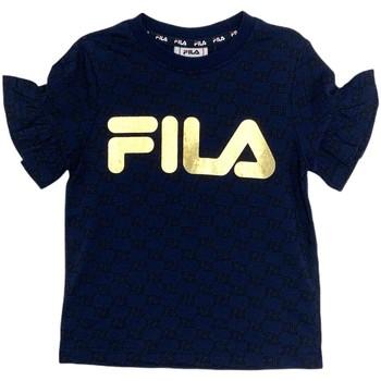 Υφασμάτινα Κορίτσι T-shirt με κοντά μανίκια Fila 688038 Μπλε