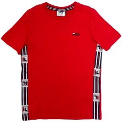 Υφασμάτινα Παιδί T-shirt με κοντά μανίκια Fila 688118 το κόκκινο