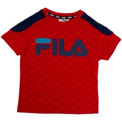 Υφασμάτινα Παιδί T-shirt με κοντά μανίκια Fila 688077 το κόκκινο
