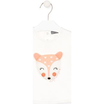 Υφασμάτινα Παιδί Μπλουζάκια με μακριά μανίκια Losan 028-1004AL λευκό