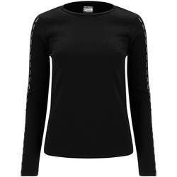 Υφασμάτινα Γυναίκα Μπλουζάκια με μακριά μανίκια Freddy F0WSDT6 Μαύρος
