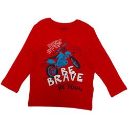 Υφασμάτινα Παιδί Μπλουζάκια με μακριά μανίκια Losan 025-1201AL το κόκκινο