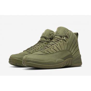 Παπούτσια Ψηλά Sneakers Nike Air Jordan XII PSNY Milan Olive/Olive-Olive