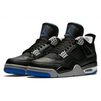 Παπούτσια Ψηλά Sneakers Nike Air Jordan 4 Game Royal Black/Game Royal-Matte Silver-White