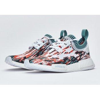 Παπούτσια Χαμηλά Sneakers adidas Originals NMD R1 Primeknit datamosh Orange White/Vapour Steel/Collegiate Orange