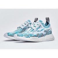 Παπούτσια Χαμηλά Sneakers adidas Originals NMD R1 Primeknit datamosh Lab Green White/Clear Aqua/Lab Green